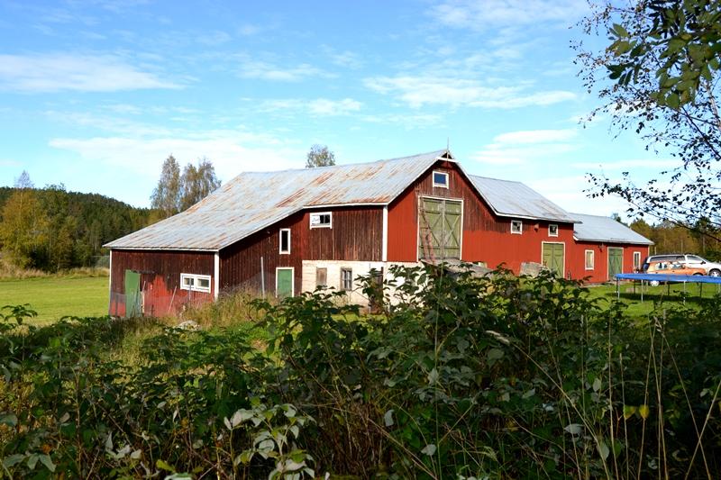 Ytterligere en byggnad i skrikandes behov av renovering. Här har vi påbörjat vår falurödmålning. Byggnaden är stor och består av: Hönshus, lada, ladugård, verkstad, stall, pannrum.
