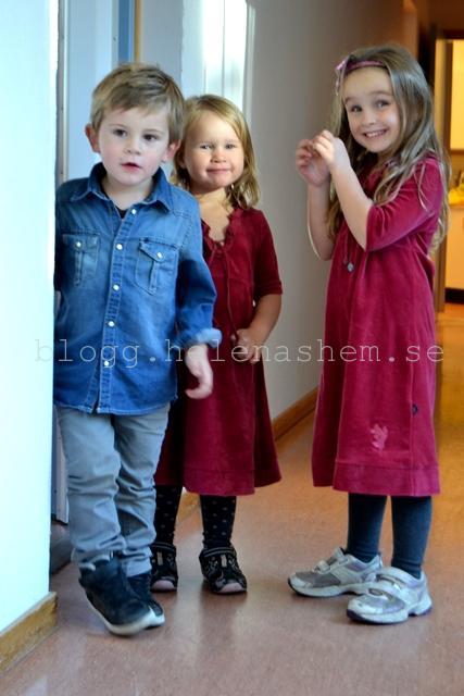 Fina Theodor 3 år, Tyra 3 år och Betty 5 år