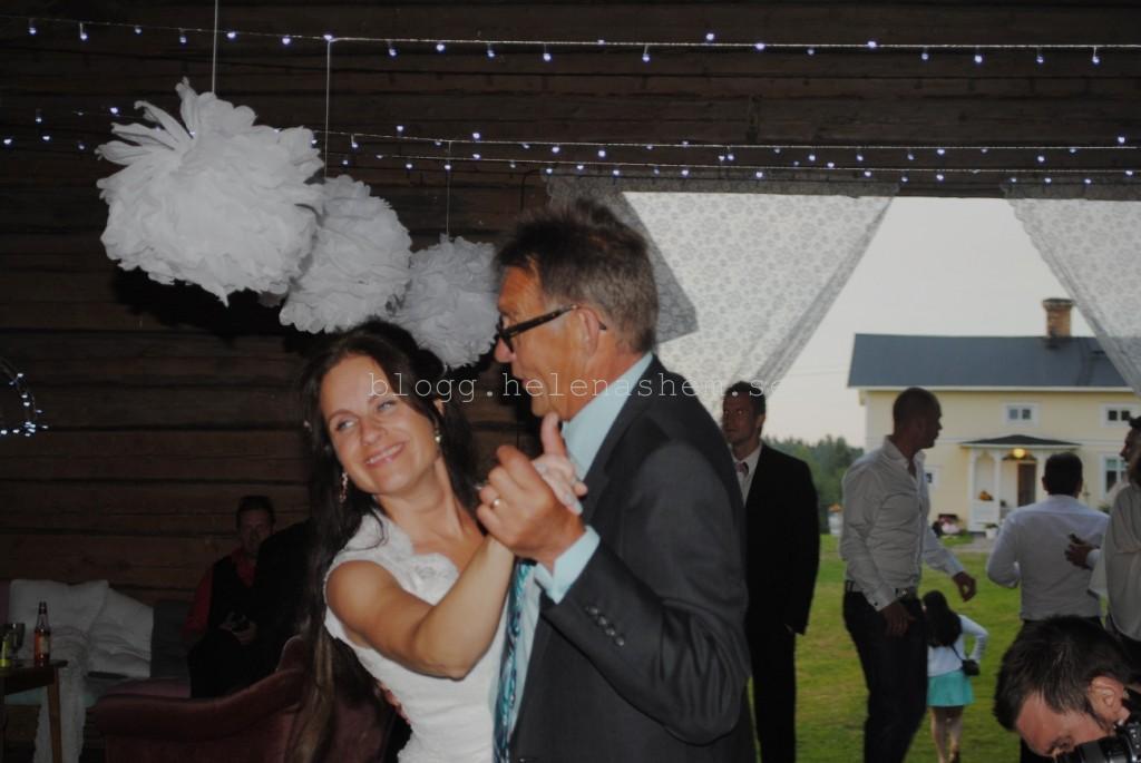 Svärfar och jag i en vacker dans