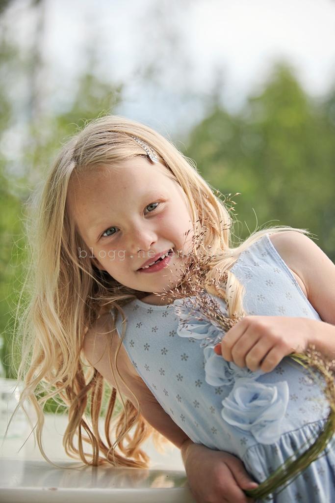 En sån fin bild på min systers Jennys yngsta barn Nelly