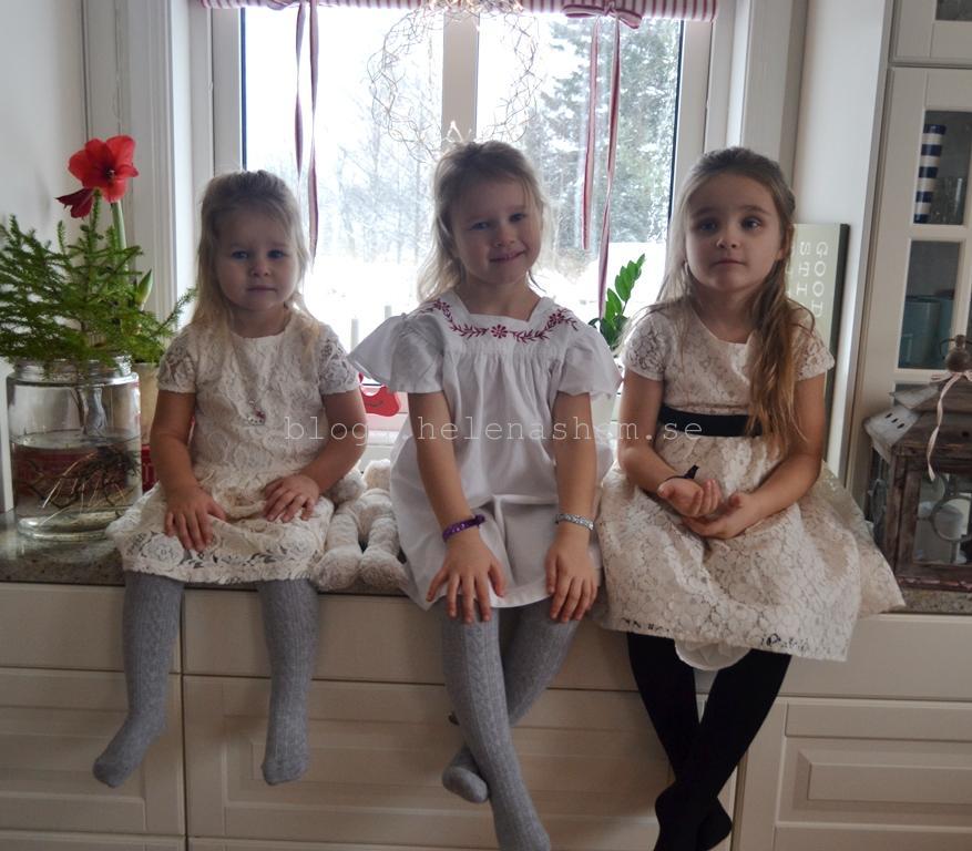 Meya snart 3 år, Tyra 4,5 år och Betty 6 år