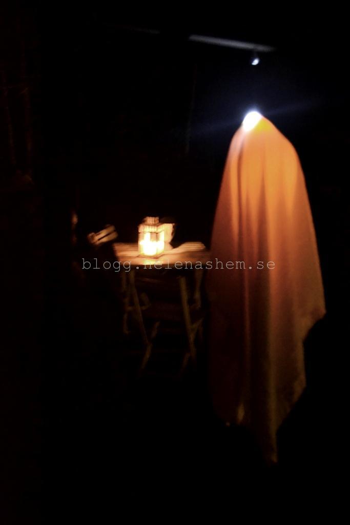 Ett lysande spöka som fladdrar i vinden...