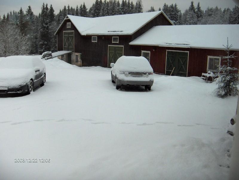 Så här mycket snö hade vi 22 december 2008
