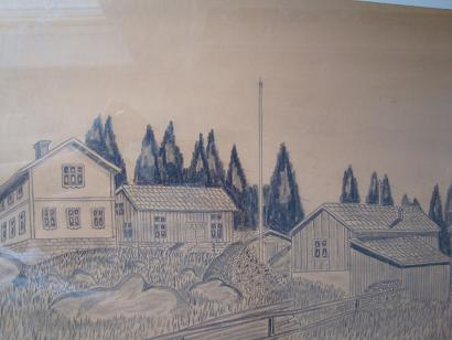 Teckning av vår gård